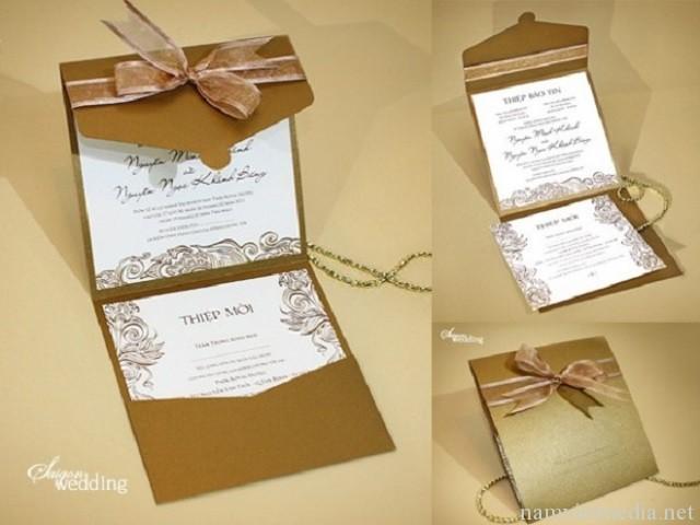 Thiết kế thiệp cưới sang trọng, hiện đại - in thiệp cưới giá rẻ
