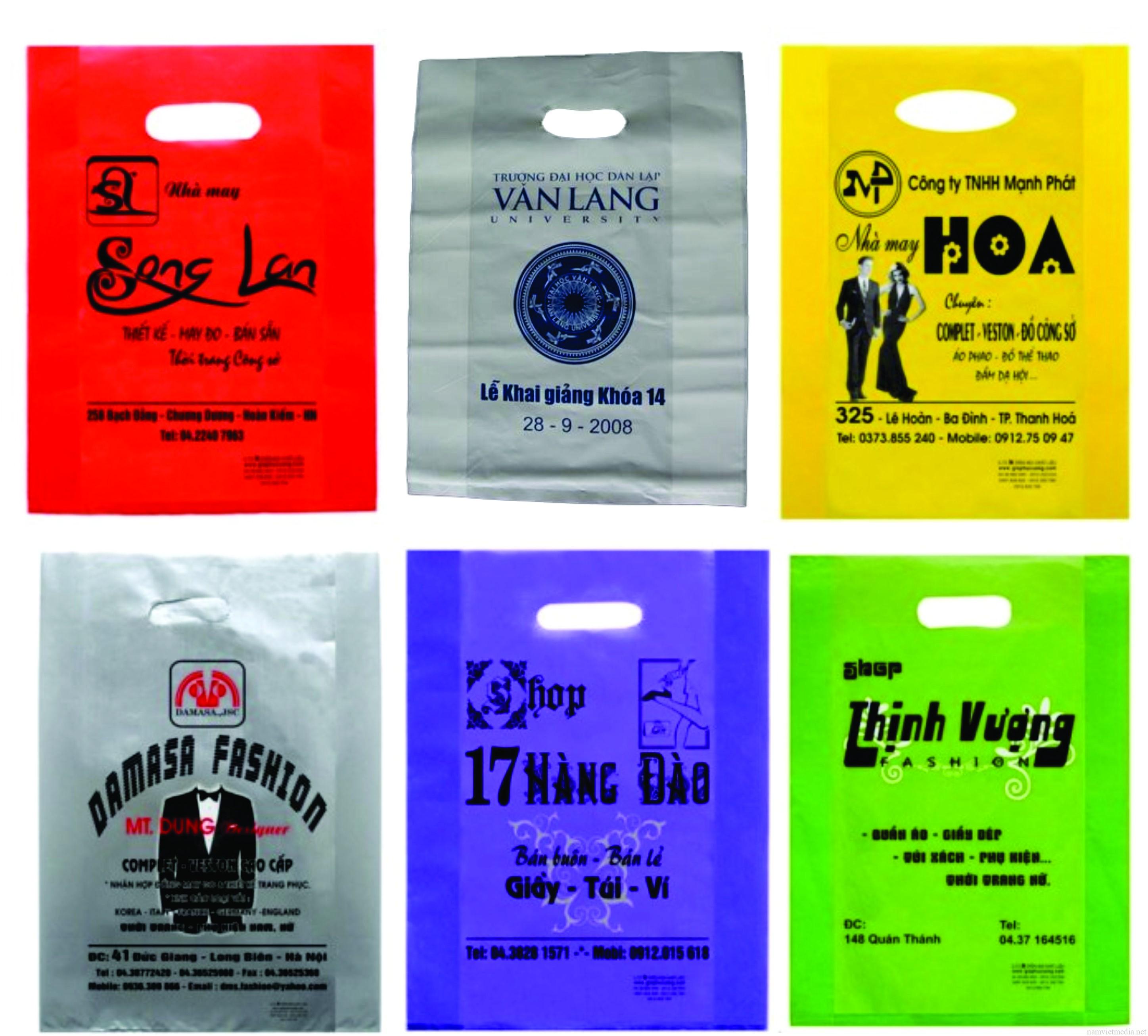 In túi ni lông giá rẻ, in túi nilon miễn phí thiết kế tại TPHCM